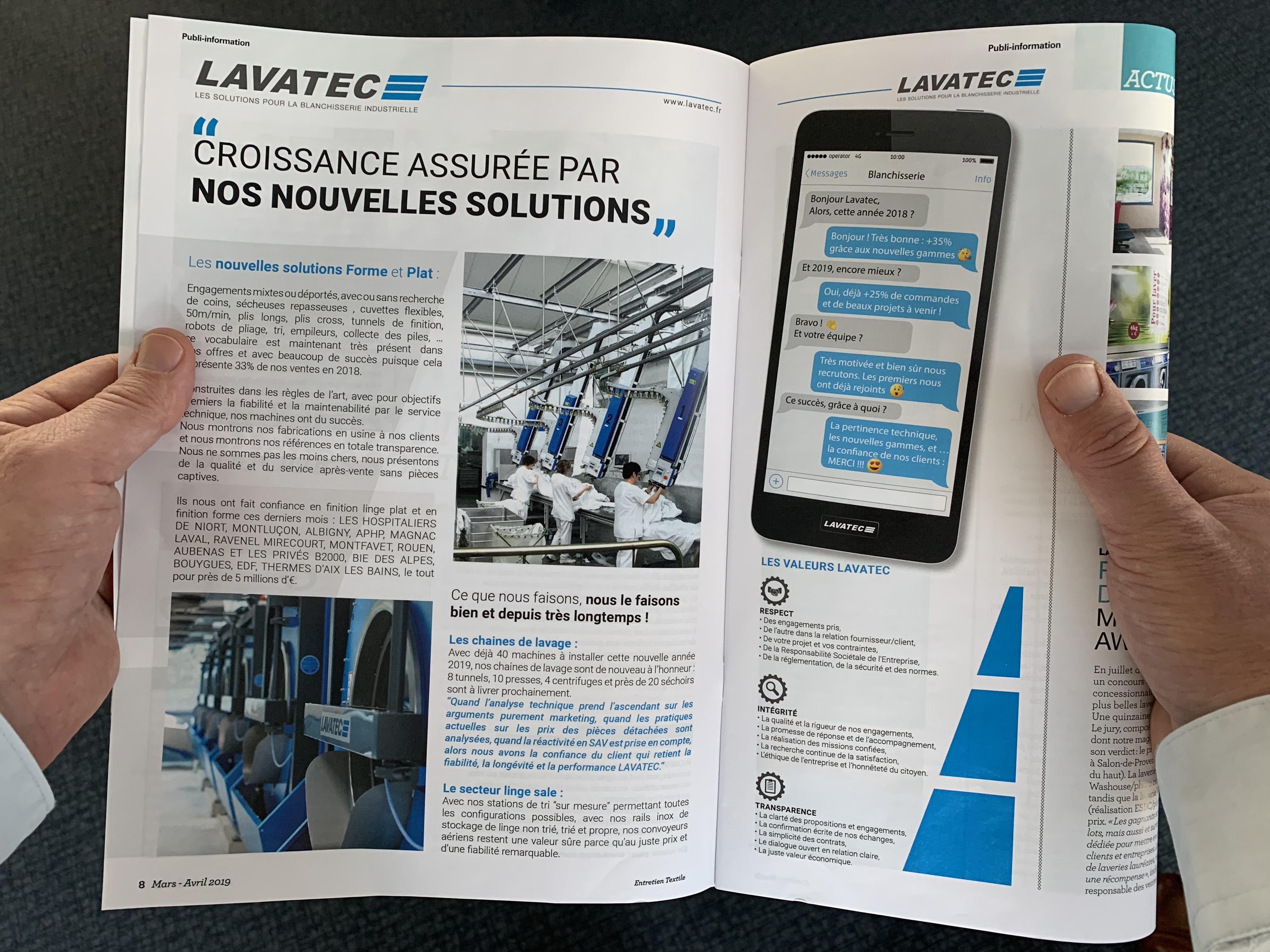 Lavatec Entretien Textile Mars 2019